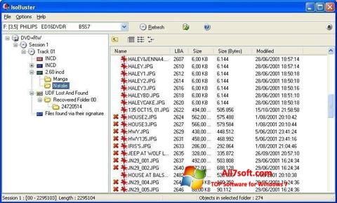 Screenshot IsoBuster untuk Windows 7