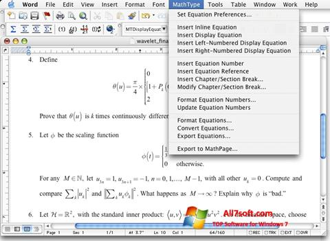 Screenshot MathType untuk Windows 7