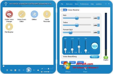 Screenshot AV Voice Changer Diamond untuk Windows 7