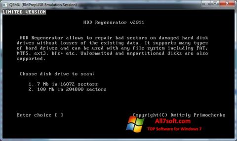 Screenshot HDD Regenerator untuk Windows 7
