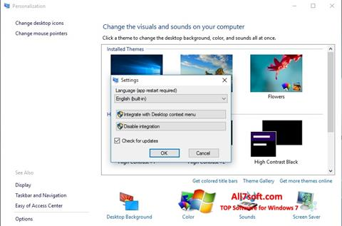 Screenshot Personalization Panel untuk Windows 7