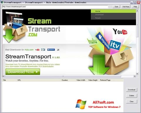 Screenshot StreamTransport untuk Windows 7