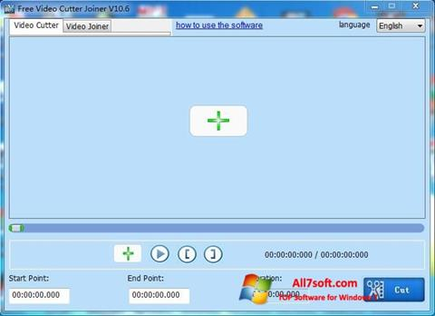 Screenshot Free Video Cutter untuk Windows 7