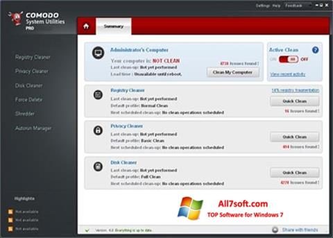 Screenshot Comodo System Utilities untuk Windows 7
