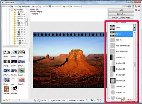 Screenshot PhotoScape untuk Windows 7
