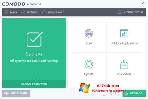 Screenshot Comodo Antivirus untuk Windows 7